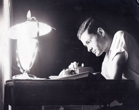 Jerry Herman writing in college