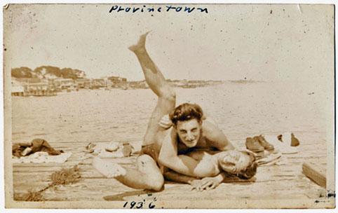 Two men embrace, provincetown 1936, vintage, gay