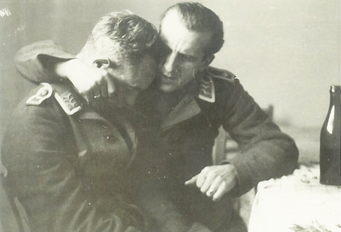 vintage photo of gay soldiers